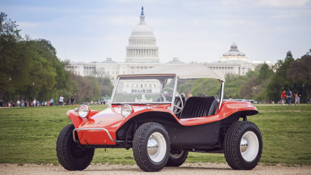 The Meyers Manx on display at the Capitol Mall | Historic Vehicle Association
