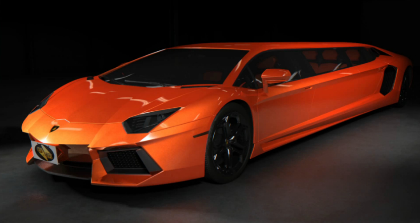 Stretched Lamborghini Aventador Limo Concept Video