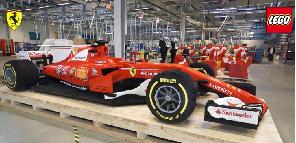 It Took 350 000 Lego Bricks To Make This F1 Ferrari Race Car
