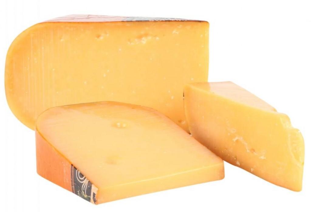 This wheel of Dutch gouda cheese