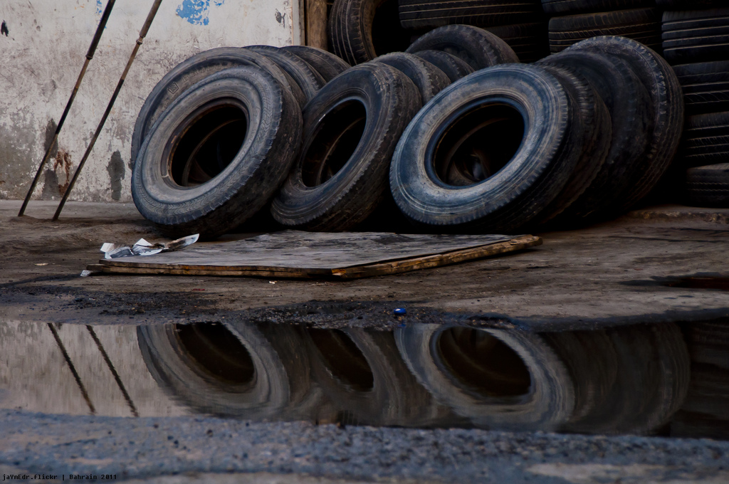 Tires, by Flickr user Jayme del Rosario (Used under CC License)