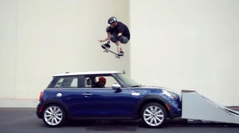 Jump A Moving Mini Tony Hawk Says No Sweat Video
