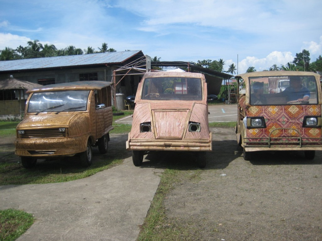 TOTI bamboo ECO taxis in Tabontabon, Philippines