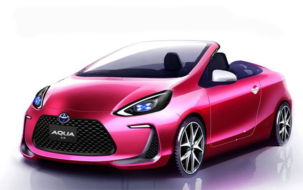 toyota prius c hybrid to get convertible model in japan. Black Bedroom Furniture Sets. Home Design Ideas