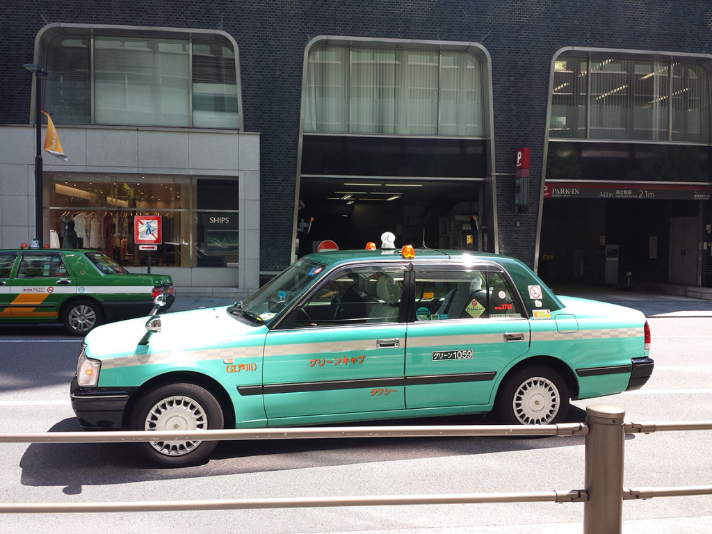 Toyota Crown taxi in Japan
