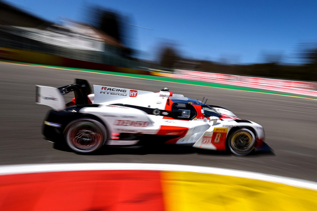Toyota GR010 Hybrid LMH race car at the 2021 8 Hours of Spa