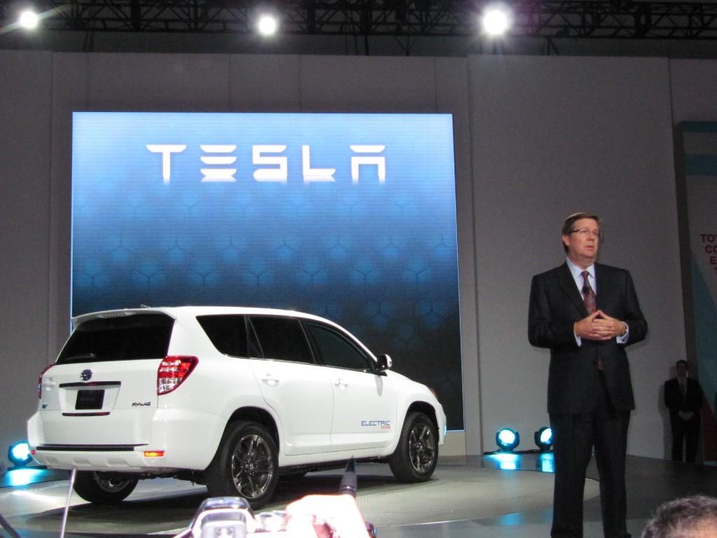 Image: 2012 Toyota RAV4 EV powered by Tesla, at 2010 Los ...