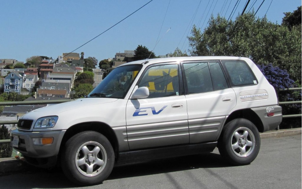 Toyota RAV4e electric vehicle, San Francisco, March 2010
