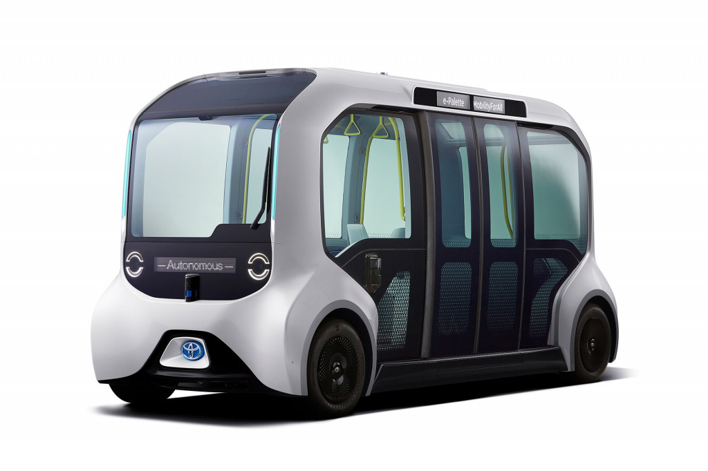Toyota reveals e-Palette self-driving shuttle for 2020 Olympic Games