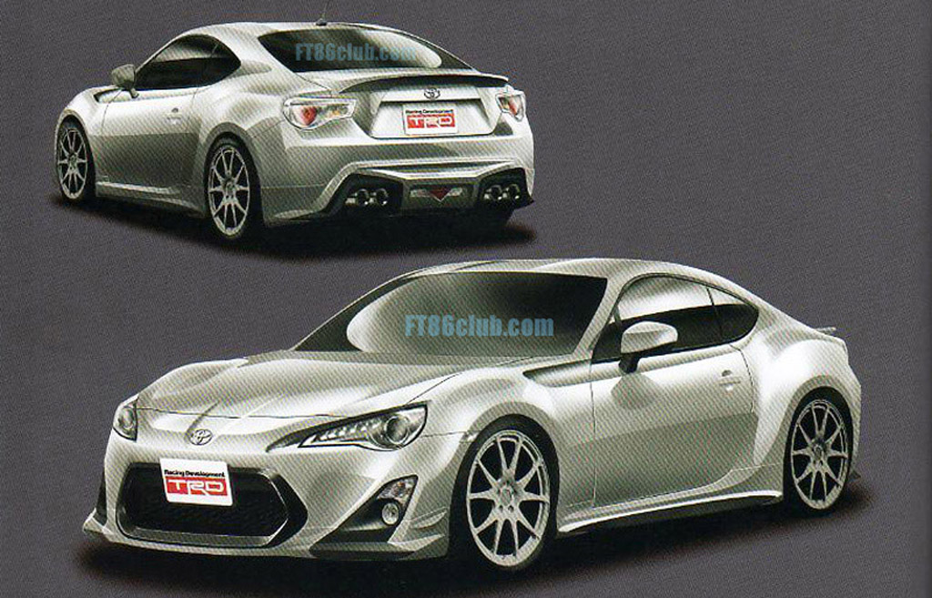 TRD Performance Accessories For Toyota FT-86 Leaked