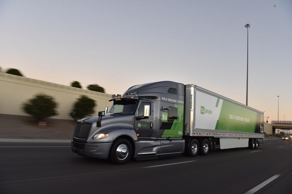 TuSimple self-driving semi truck
