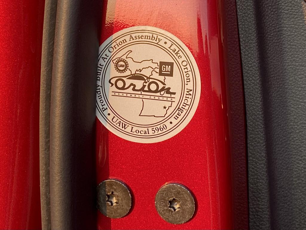UAW-made sticker on 2022 Chevy Bolt EV