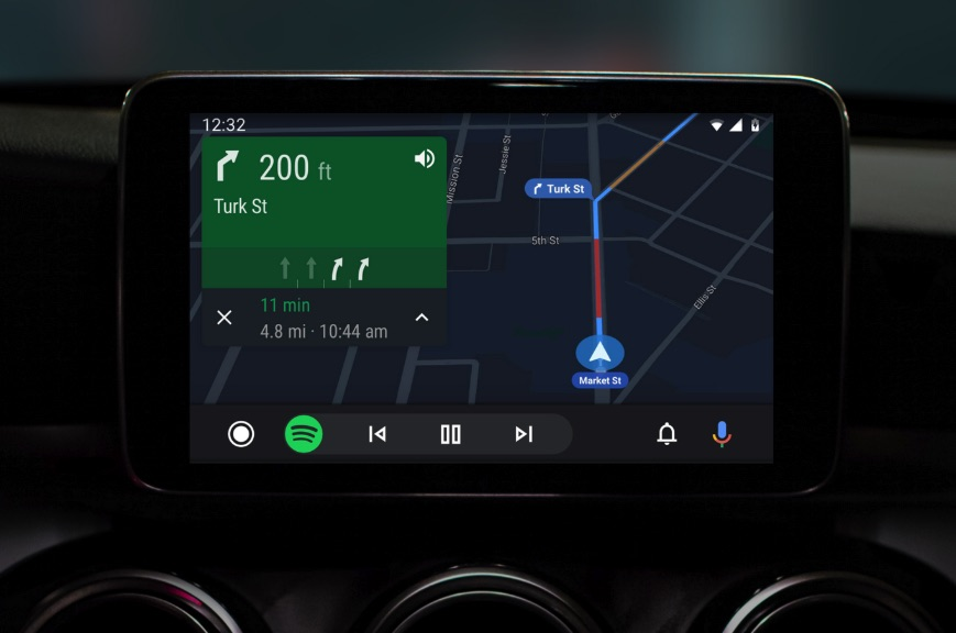 Updated Android Auto user interface, 2019