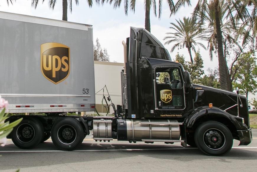 UPS liquefied natural gas truck