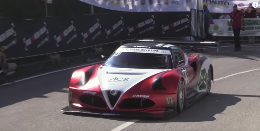 V-8-powered Alfa Romeo 4C hill climb car is a serious machine