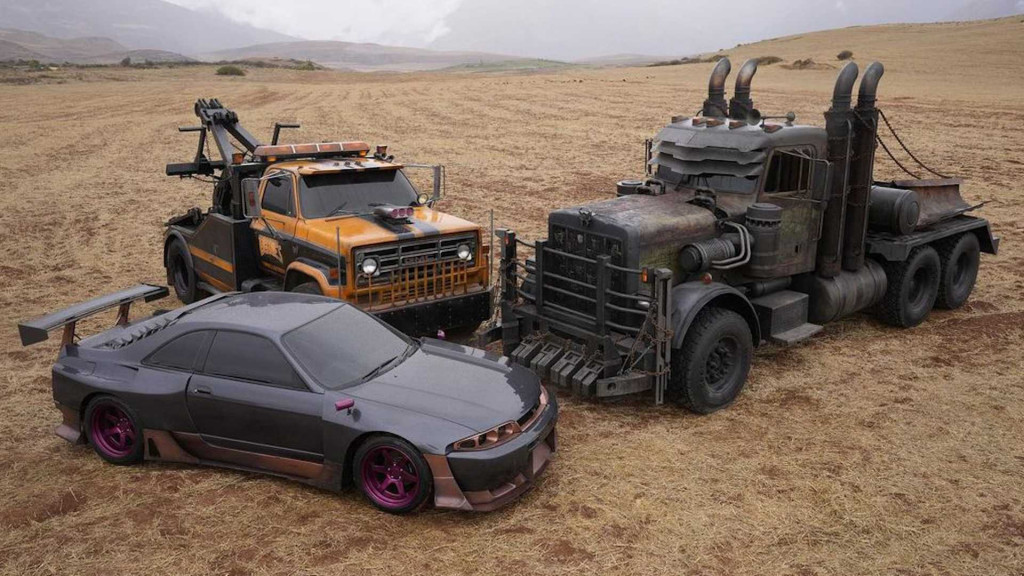 """Vehicles from """"Transformers: Rise of the Beasts"""" - Photo credit: Steven Caple Jr./Instagram"""
