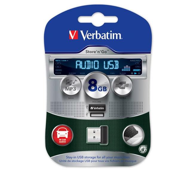 Store'n'Go With Tiny Verbatim Micro USB Car Audio Drive