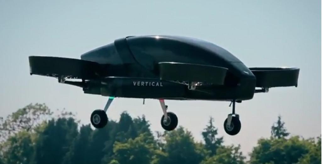 Vertical Aerospace flying taxi single-passenger prototype