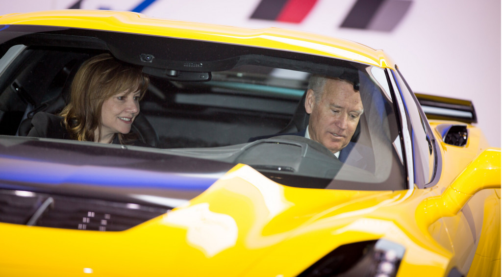 Vice President Biden, in Chevy Corvette