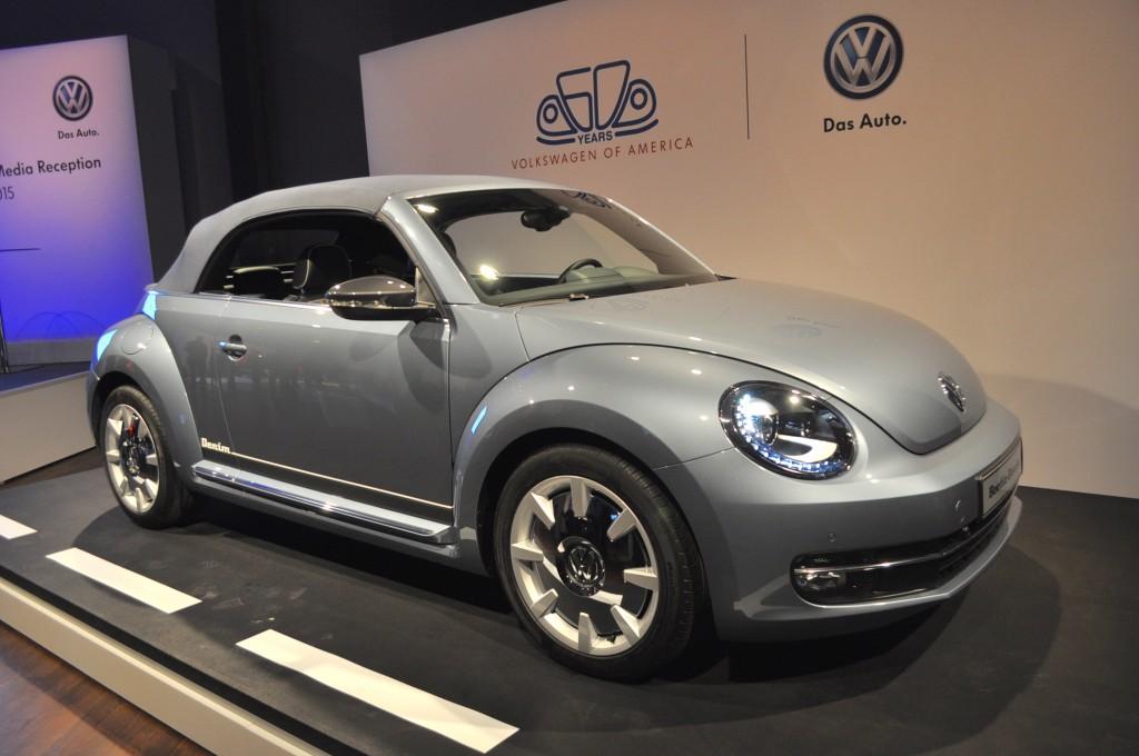 Image: Volkswagen Beetle Convertible Denim Concept Live Photos, 2015 New York Auto Show, size ...
