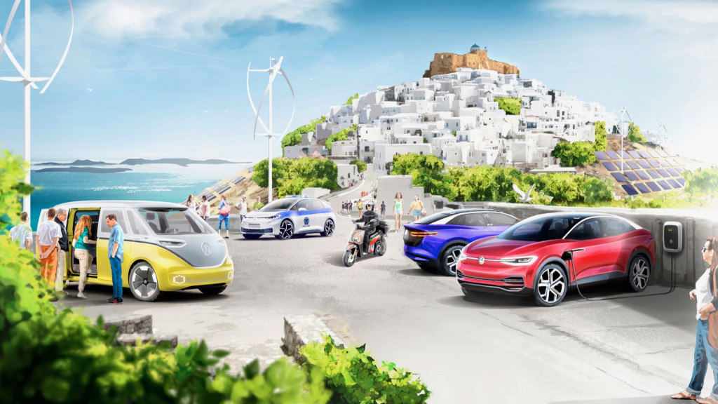 Volkswagen demonstration project on Greek island of Astypalea