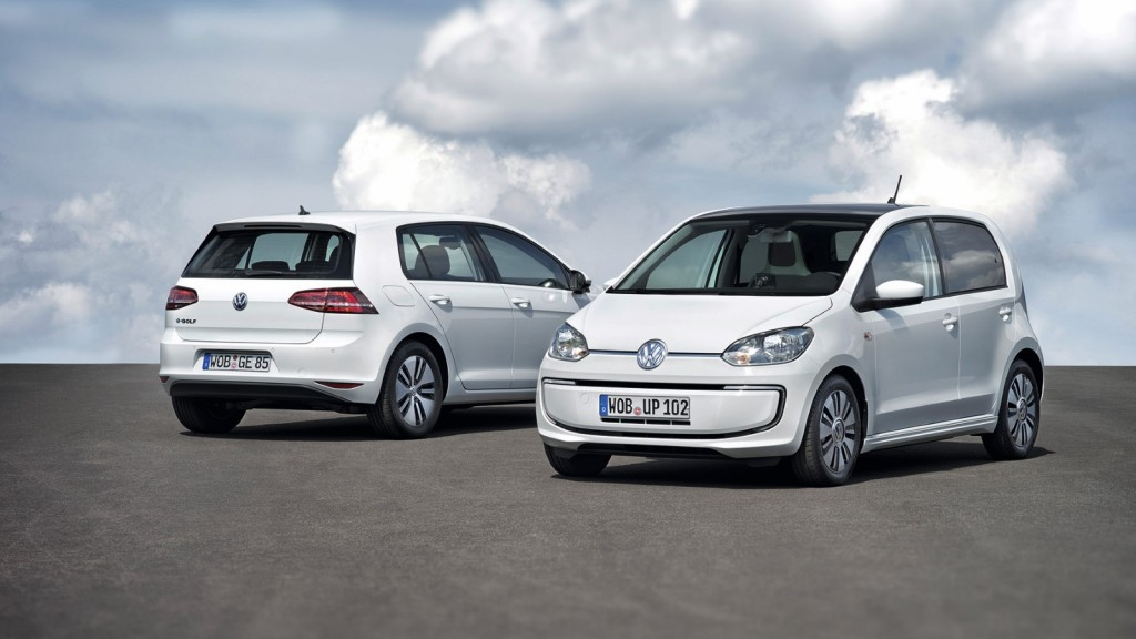 Volkswagen e-Golf and e-Up electric cars