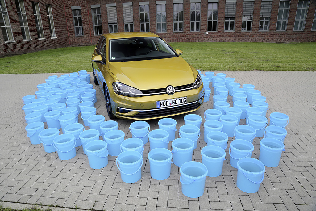 Volkswagen Golf uses 27.5 percent less water