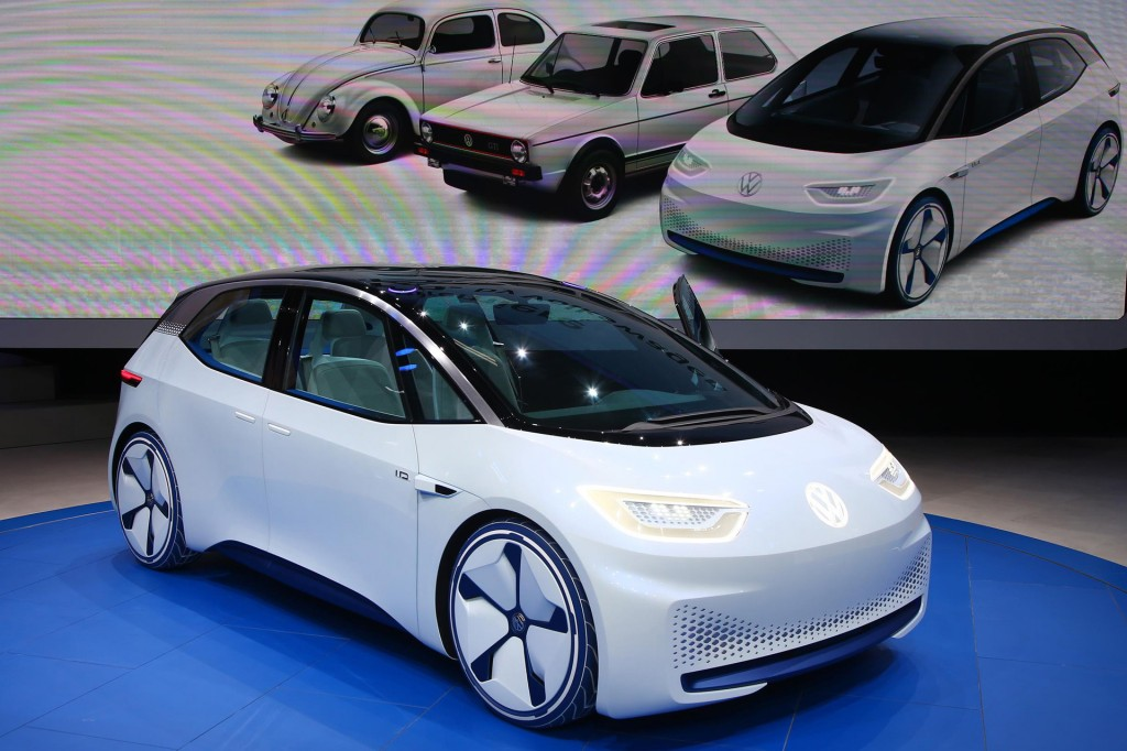 Volkswagen ID electric car concept, 2016 Paris auto show