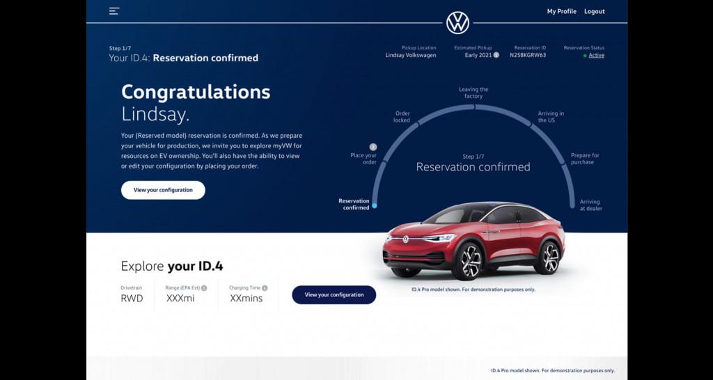 Volkswagen ID.4 builder preliminary mock - August 2020