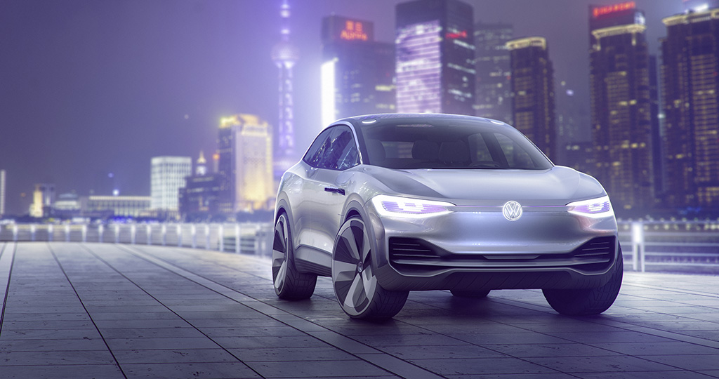 Volkswagen Id Crozz Concept For All Electric Crossover Debuts At