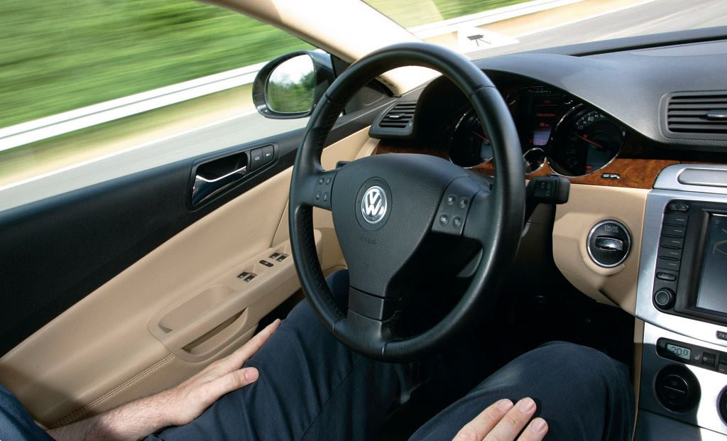 Volkswagen Temporary Auto Pilot in action