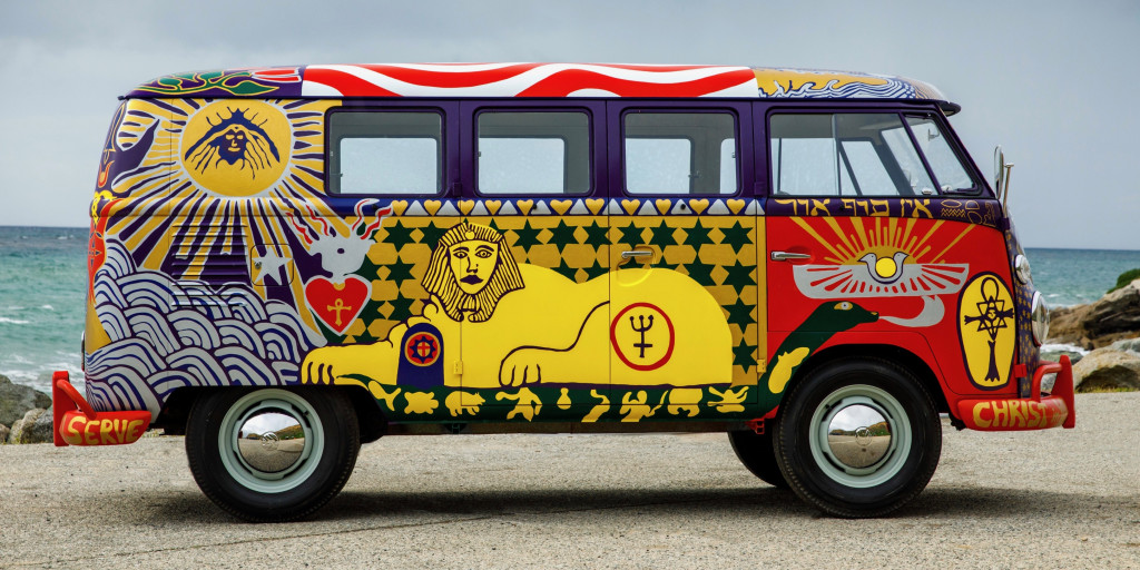 Iconic 'Light' VW bus of Woodstock fame