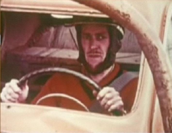 Volvo safety test driver, 1959