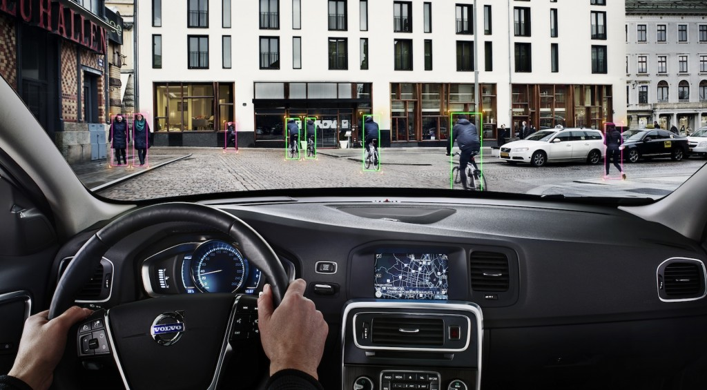 Volvo's Pedestrian and Cyclist Detection system - image: Volvo
