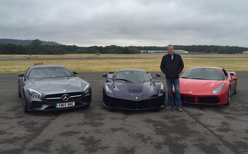 Clarkson S Last Lap On Top Gear Track Done In Either A Laferrari 488 Gtb Or Mercedes Amg Gt