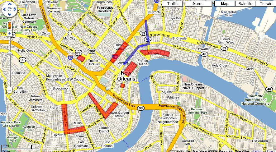 Your Mardi Gras map