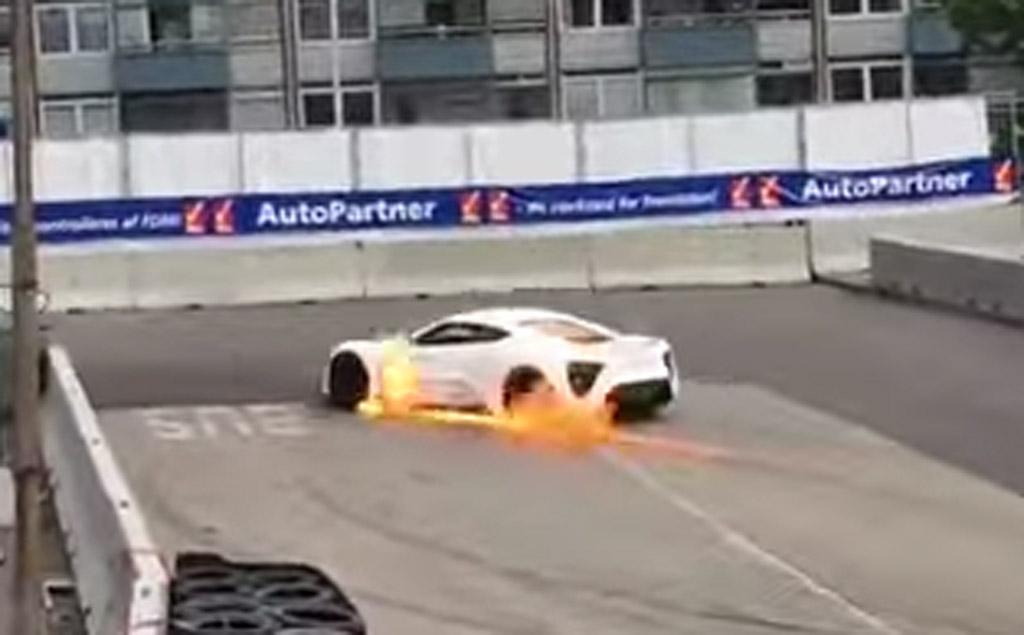 Zenvo St1 Supercar Catches Fire Again