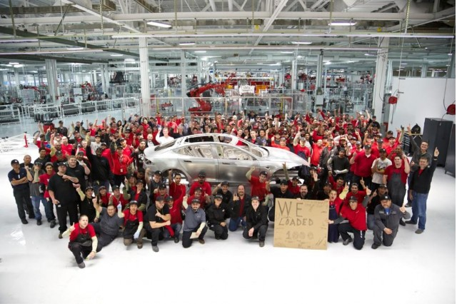 1 000th Body For 2017 Tesla Model S On Display At Motors Factory Fremont