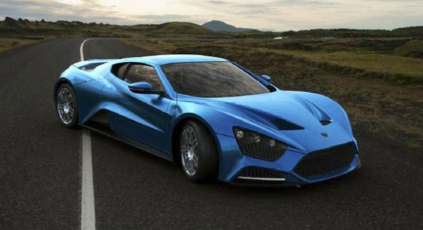 1,250 horsepower Zenvo ST-1 50S in Crystal Blue
