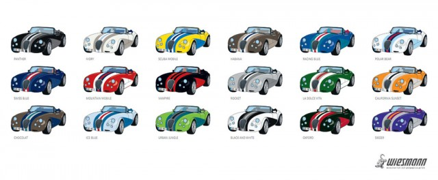 18 different Wiesmann Roadster MF3 Sieger editions