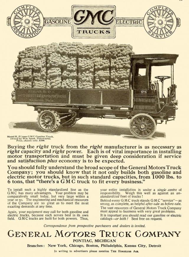 1912 GMC truck advertisement