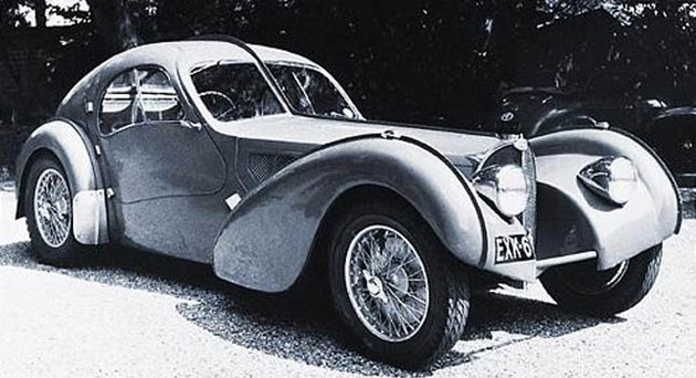 The Type 57S Atalante's value is surpassed only by its rarity