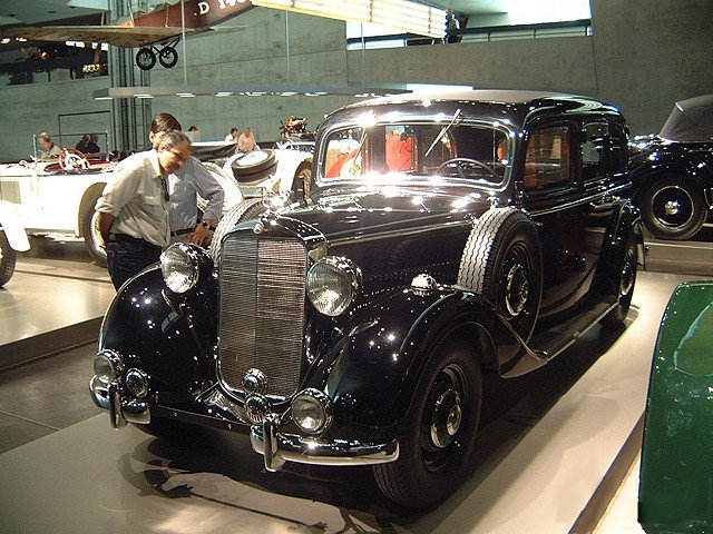 1938 Mercedes-Benz 260D at Mercedes-Benz Museum, Stuttgart, Germany [photo by Christian Wimmer]