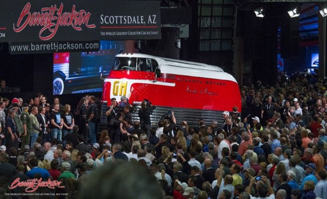 1950 General Motors Futurliner Parade of Progress Tour Bus at Barrett-Jackson Scottsdale Auction