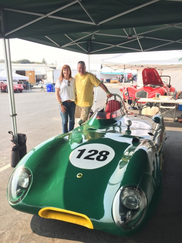 Driving a vintage Lotus at the Rolex Monterey Motorsports Reunion