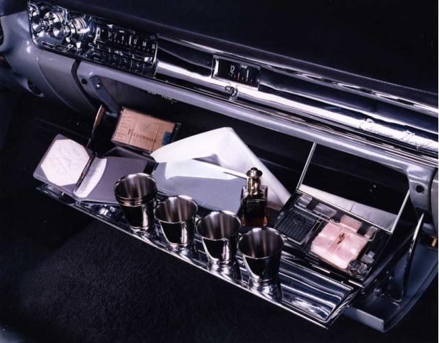 1957 Cadillac Eldorado Brougham accessory - magnetic shot glasses