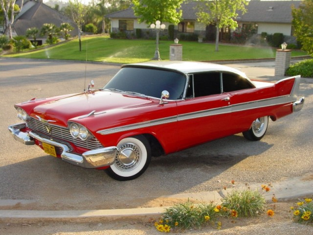 1958 Plymouth Fury used in filming the movie 'Christine', photo via Wikimedia Commons