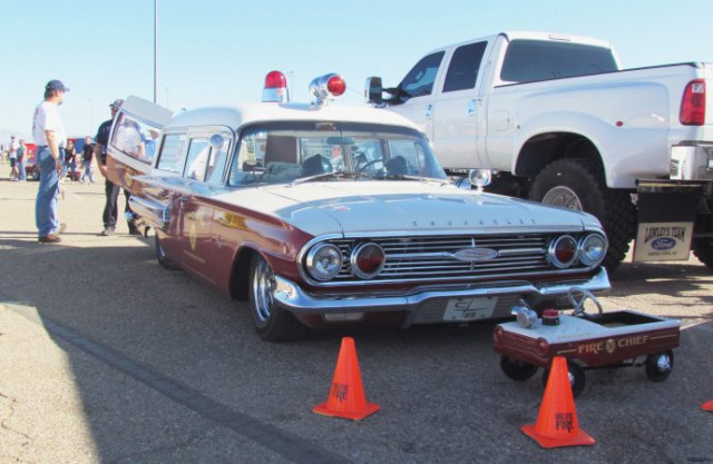 1960 Chevrolet Biscayne sedan-based ambulance