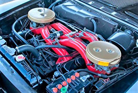1960 Chrysler 300F wedge-head 413cid V8 with cross-flow intake