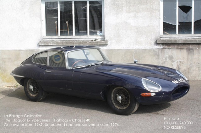 1961 Jaguar E-Type barn find going under the hammer with Coys